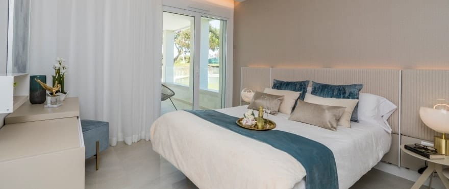 Bright spacious bedrooms at Emerald Greens, San Roque