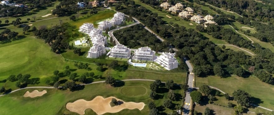 Emerald Greens, Apartments for sale, San Roque Club, Cadiz. Panoramic view