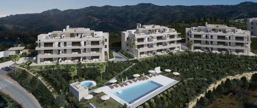 Panoramic views from the new homes Harmony, Mijas, Costa del Sol