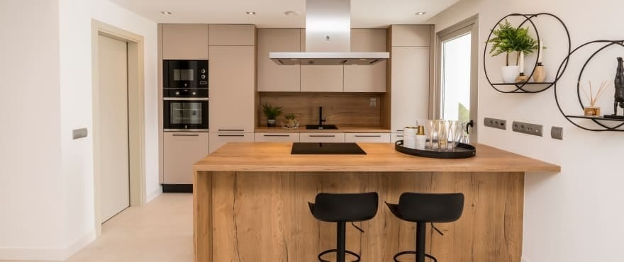 Modern kitchen at the new apartments for sale, Harmony, La Cala Resort