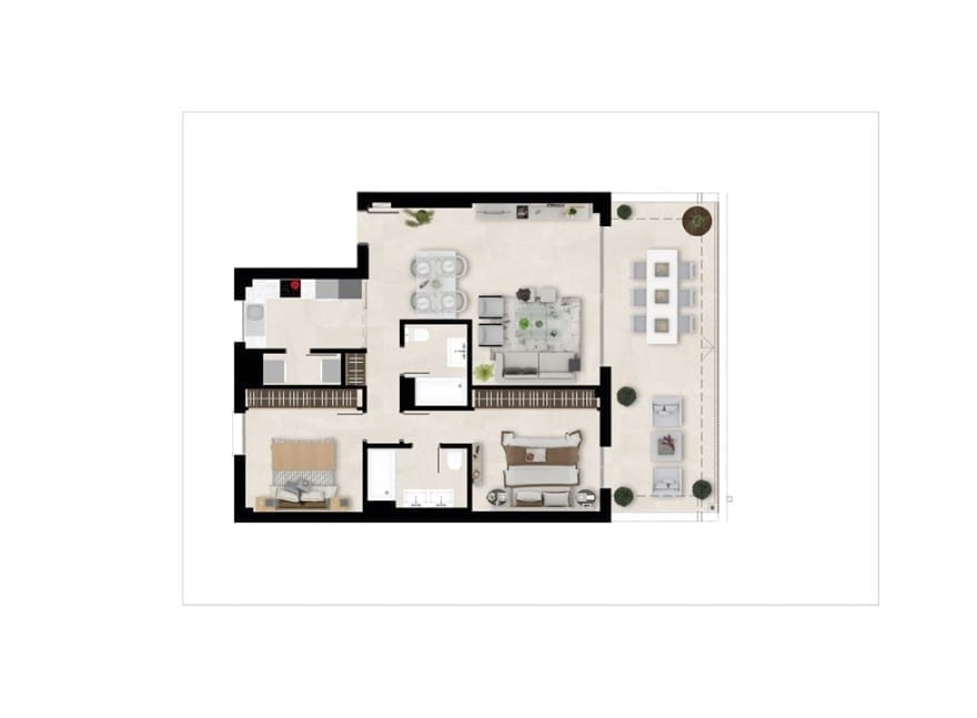 Harmony, plan 2 bedrooms, Penthouse